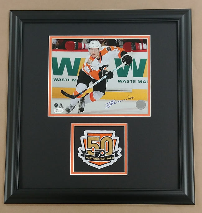 Travis Konecny Autographed 8x10 Framed Photo Display