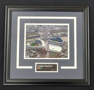 Yankee Stadium Subway Sign Framed Photo Display