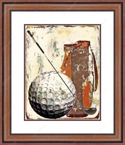 Abstract Golf Framed Print