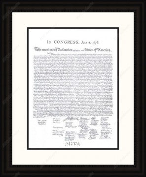 Declaration of Independence Framed Replica Print