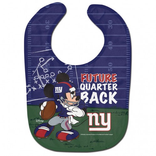 New York Giants / Disney Mickey Mouse All Pro Baby Bib
