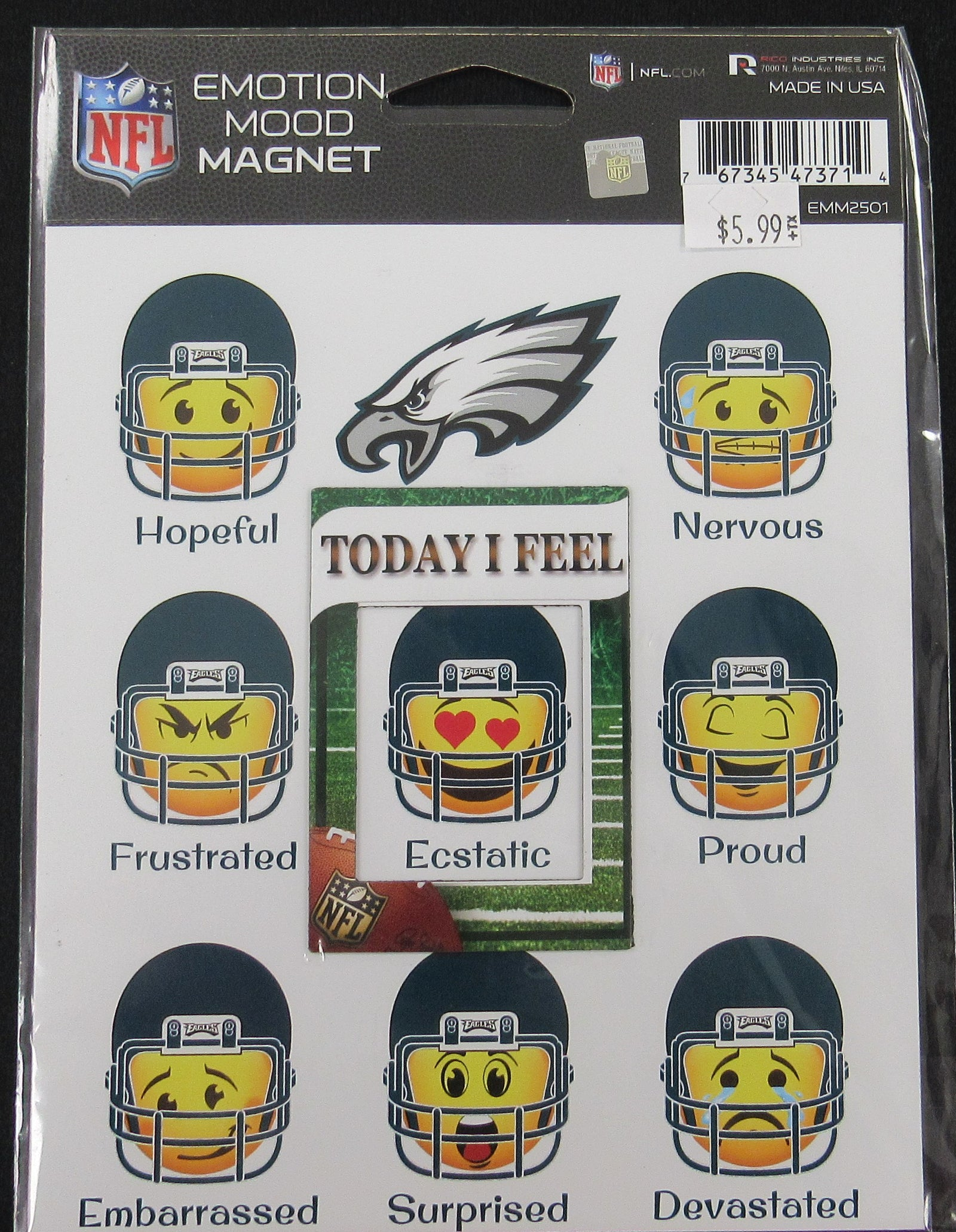 Philadelphia Eagles Emoji Mood Magnet