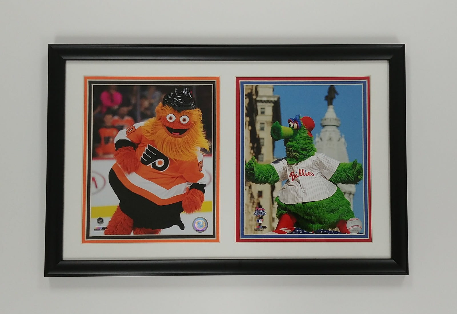 Philly Phanatic and Gritty 8x10 Photo Display