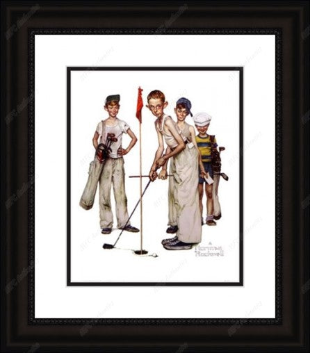 Missed by Norman Rockwell Framed Print