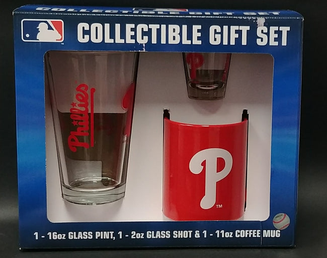 Philadelphia Phillies Collectible Glassware & Mug Gift Set