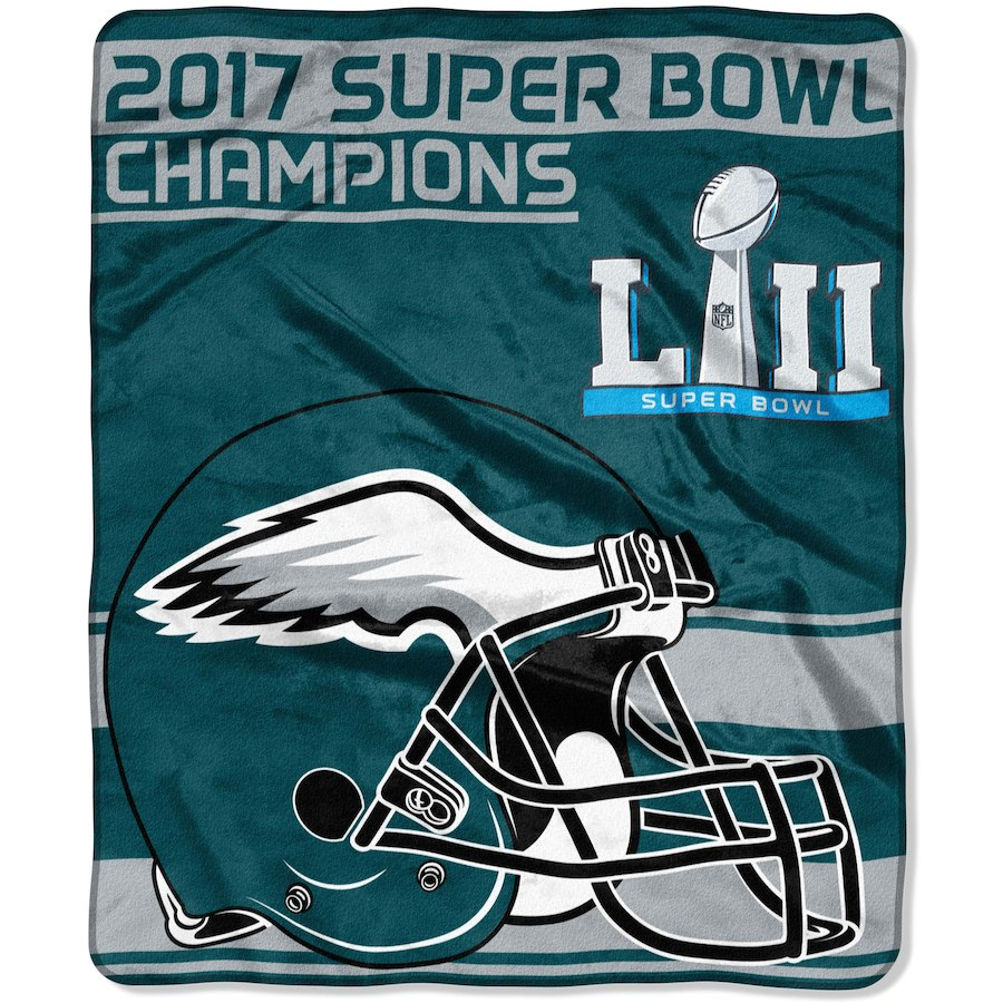 "The Northwest Company Philadelphia Eagles 50"" x 60"" Super Bowl LII Champs Plush Blanket"