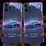 Sports car luminous phone case for iPhone 11 / 12pro max / Samsung