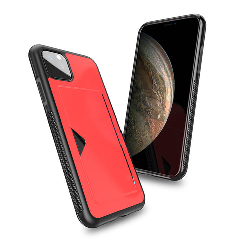 Premium Leather Phone Case With Card Holder For iPhone 11