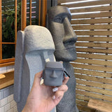 Easter Island Moai Shaped Airpods Case