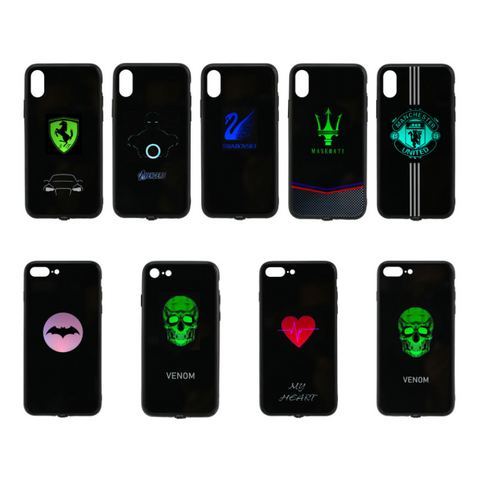 Creative luminous phone case for iPhone X / 11 / 12pro max / Samsung