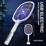 Multi-functional USB Electric Shock Mosquito Swatter Lamp