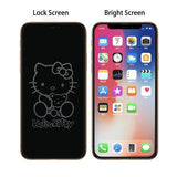 Cartoon 6D Invisible Glitter Graphic Tempered Glass Film - getopdeal