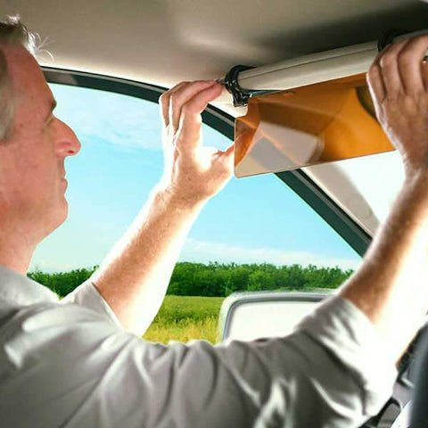 Transparent Anti-Glare Sun Visor, Safeguard Against Sun Exposure