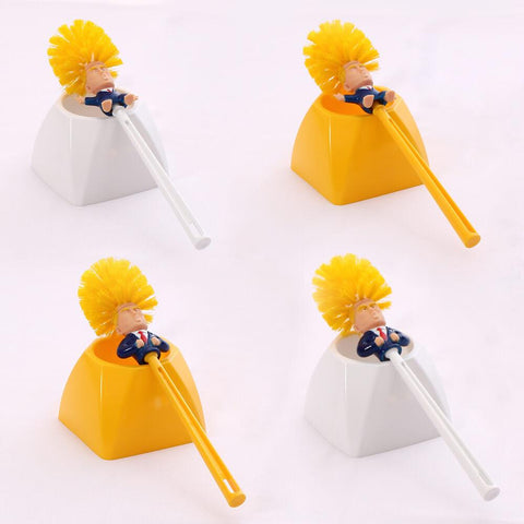 trump toilet brush and holder set