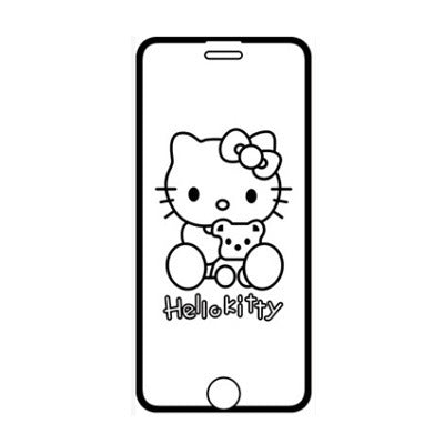 Iphone Cartoon 6D Invisible Glitter Graphic Tempered Glass Film