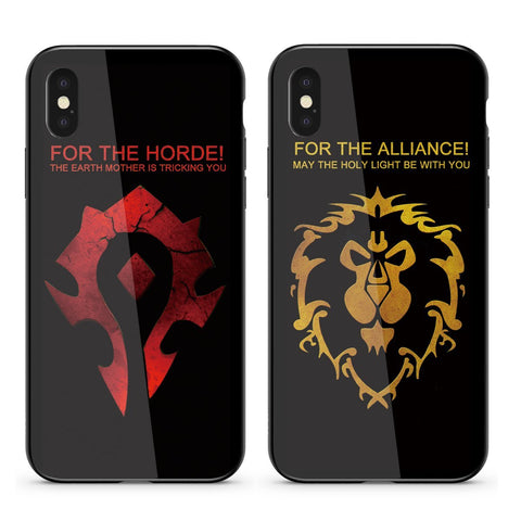 For The Horde / For The Alliance, Tempered Glass
