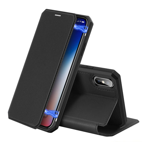 iPhone Premium Leather Flip Over Protect Case For iPhone X/XR/XS/XS max