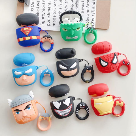Super Hero Cartoon silica Airpod Case