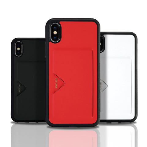 Premium Leather Phone Case With Card Holder For iPhone X