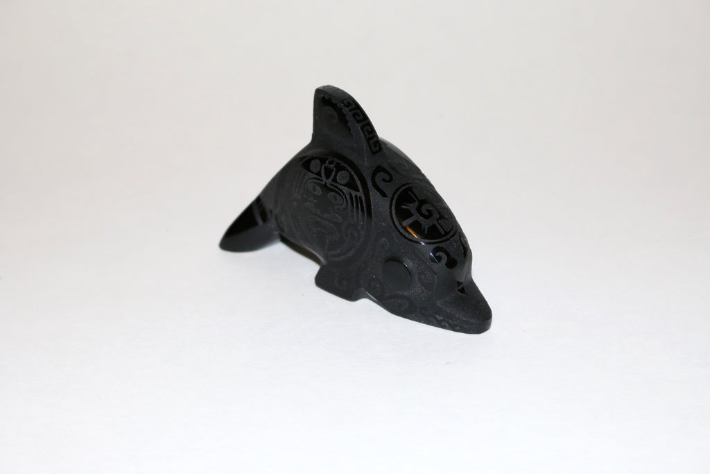 Obsidan Carved Dolphin