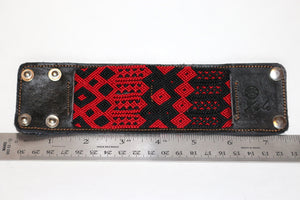 Large Leather/Handwoven Bracelet
