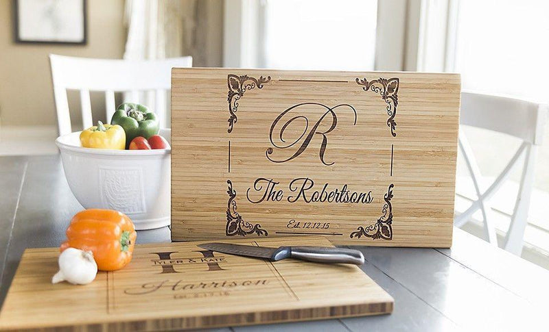 Personalized Bamboo Cutting Board 11x17