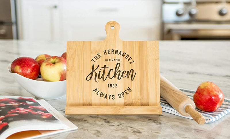 Personalized Bamboo Collection Cookbook Holder