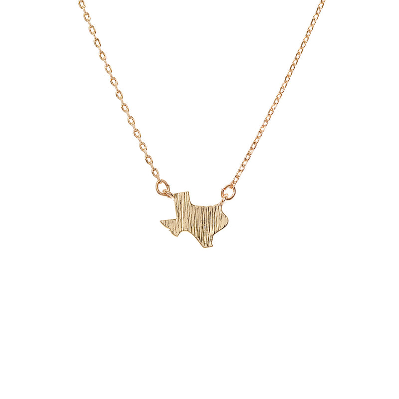 Texas State Necklace Gold