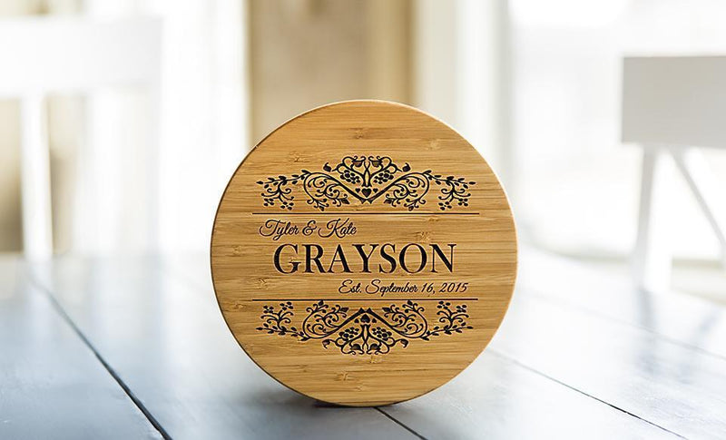 Personalized Solid Bamboo Trivets
