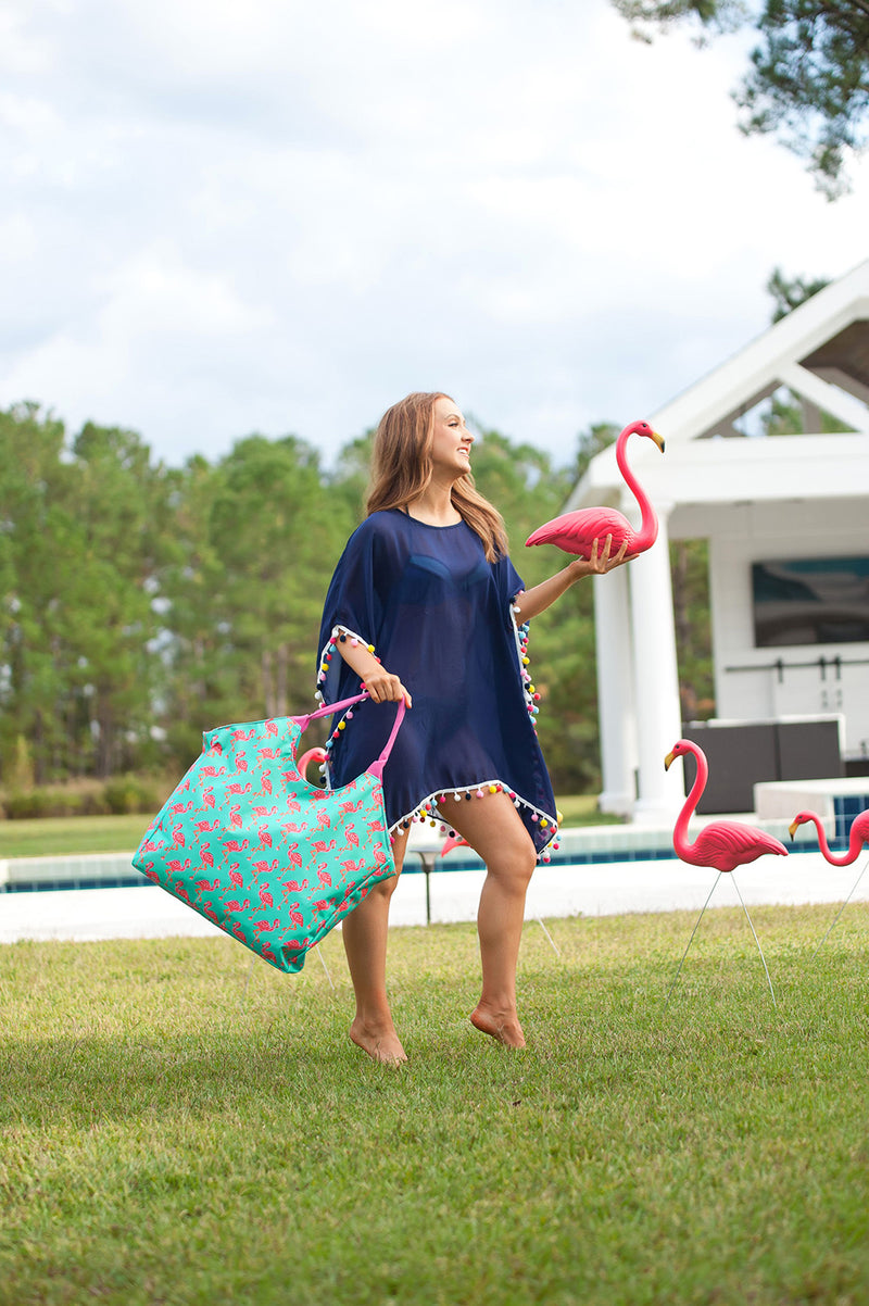Tickled Pink Beach Bag