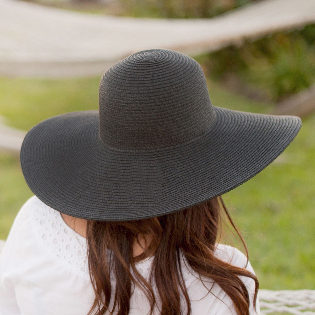 Monogrammed Black Adult Floppy Hat