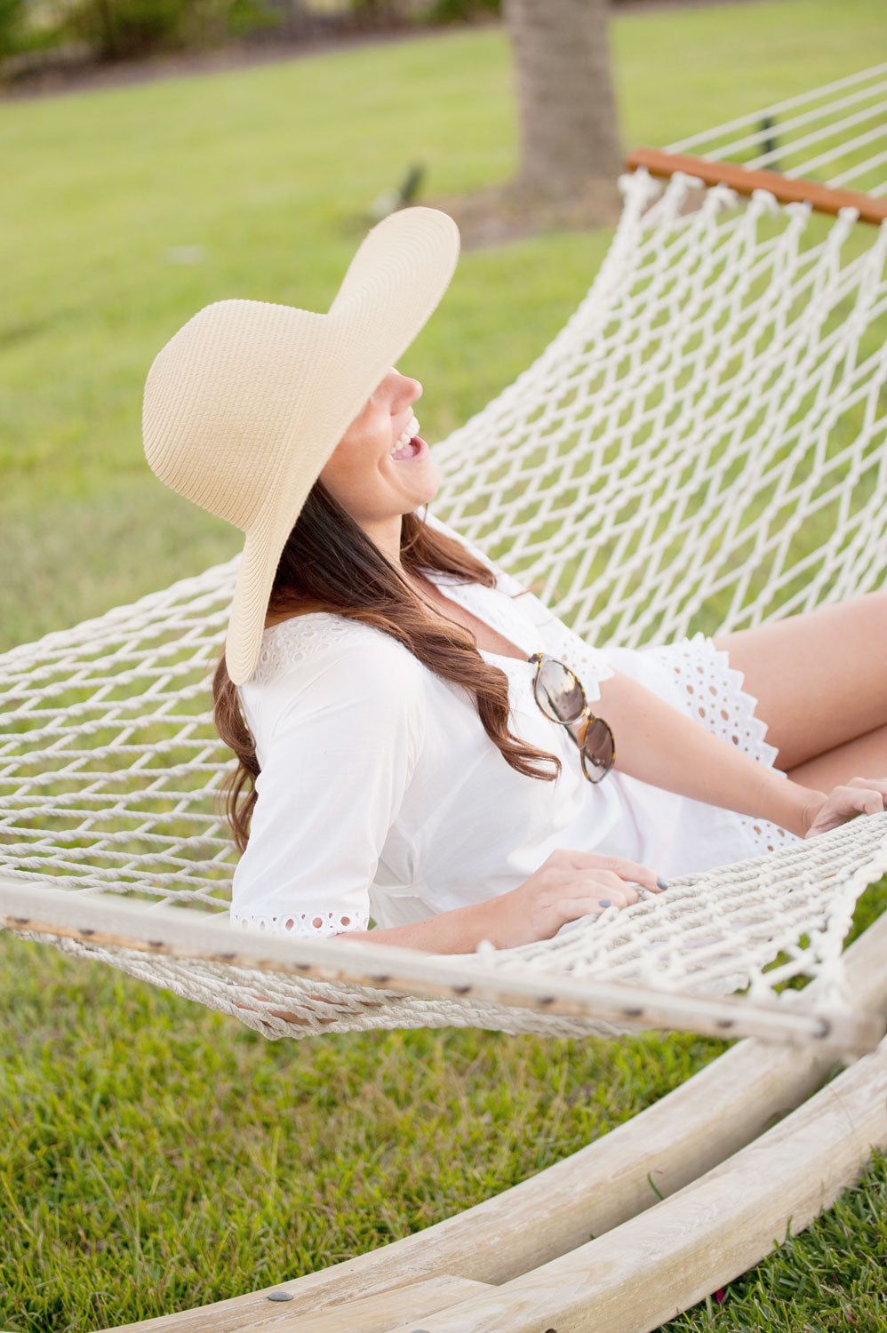 Monogrammed Natural Adult Floppy Hat