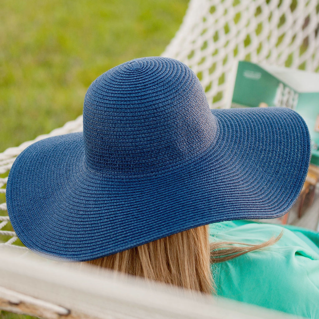 Monogrammed Navy Blue Adult Floppy Hat