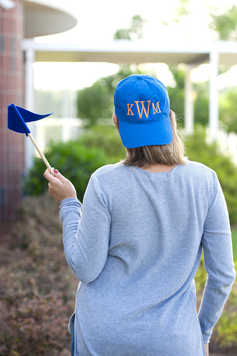 Monogrammed Royal Blue Cap