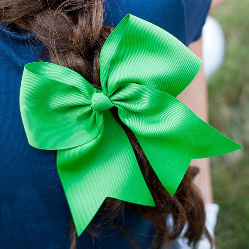Green Hair Cheer Bow