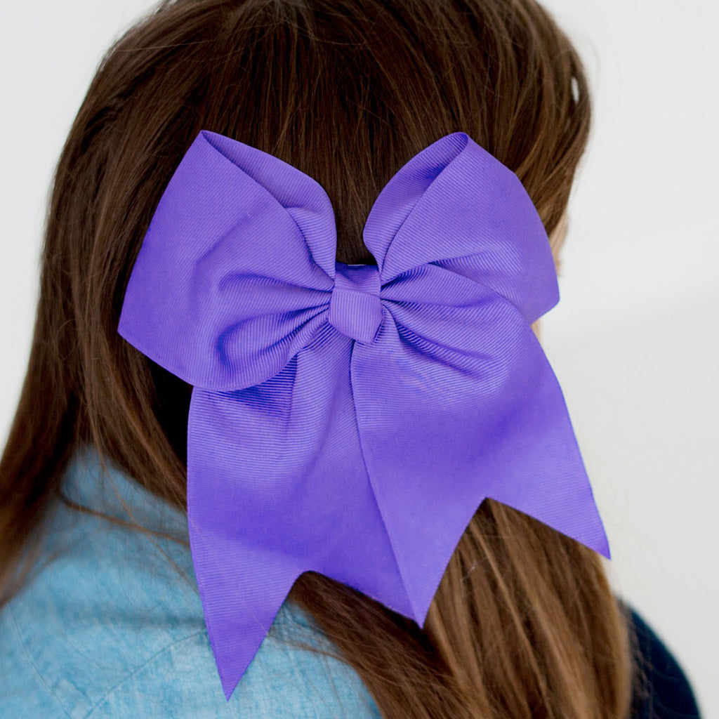 Monogrammed Purple Hair Bow
