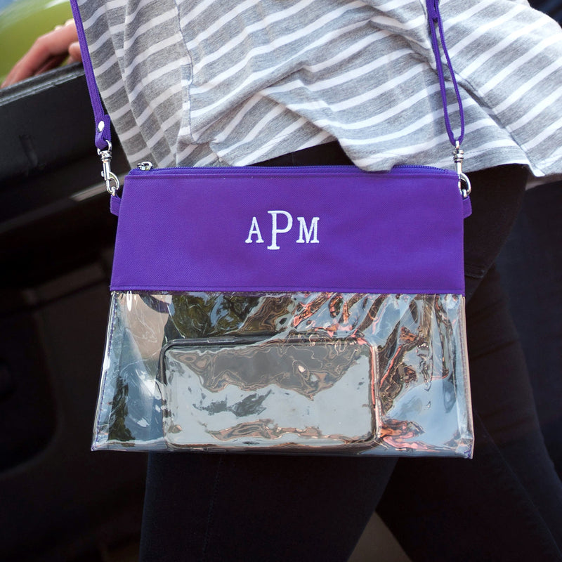 Purple Clear Zip Pouch