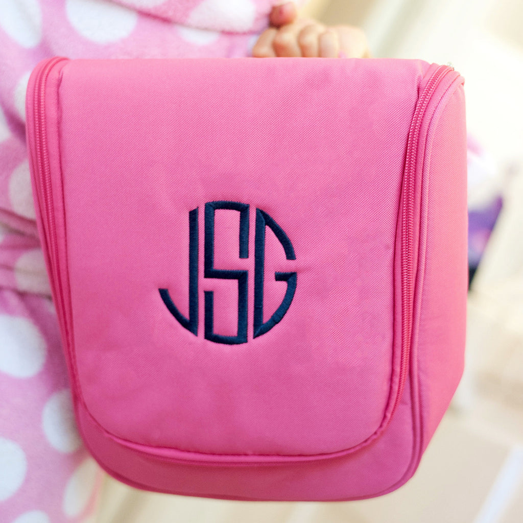 Hot Pink Hanging Cosmetic Bag