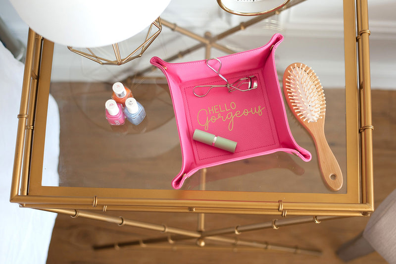 Hot Pink Hello Gorgeous Trinket Tray