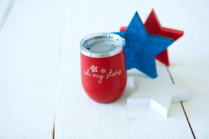 Red Oh My Stars 12oz Insulated Tumbler