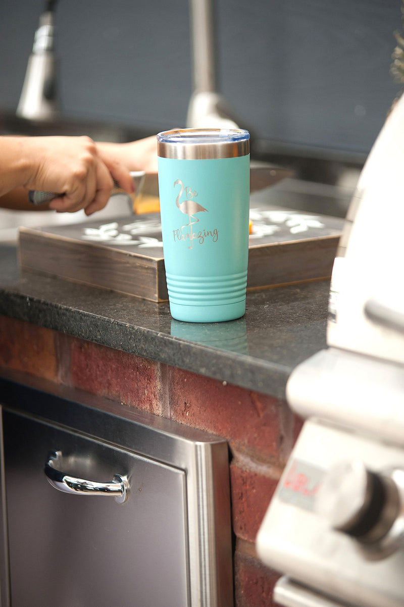 Teal Be Flamazing 20oz Insulated Tumbler