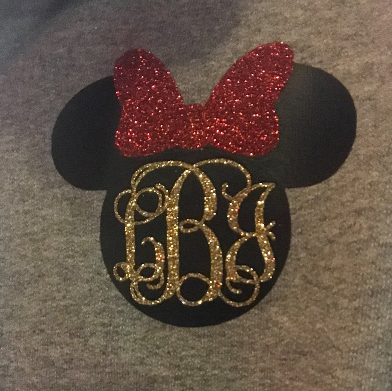 Disney Monogrammed Zip-Up | Minnie Monogrammed Pullover | Monogrammed Disney Gift | Disney World Sweatshirt