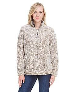 Monogrammed Sherpa Quarter Zip Pullover - Ladies Fit
