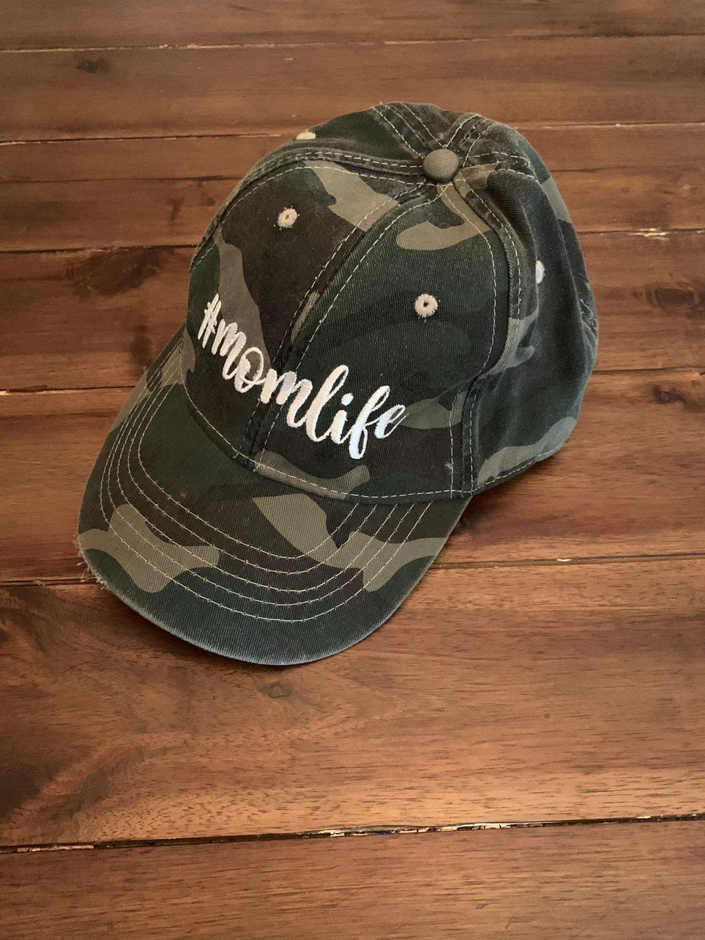 Monogrammed #momlife Camo Hat | Boy Mom Life Camo Baseball Cap | New Mom Gift | Boy Mom Gift