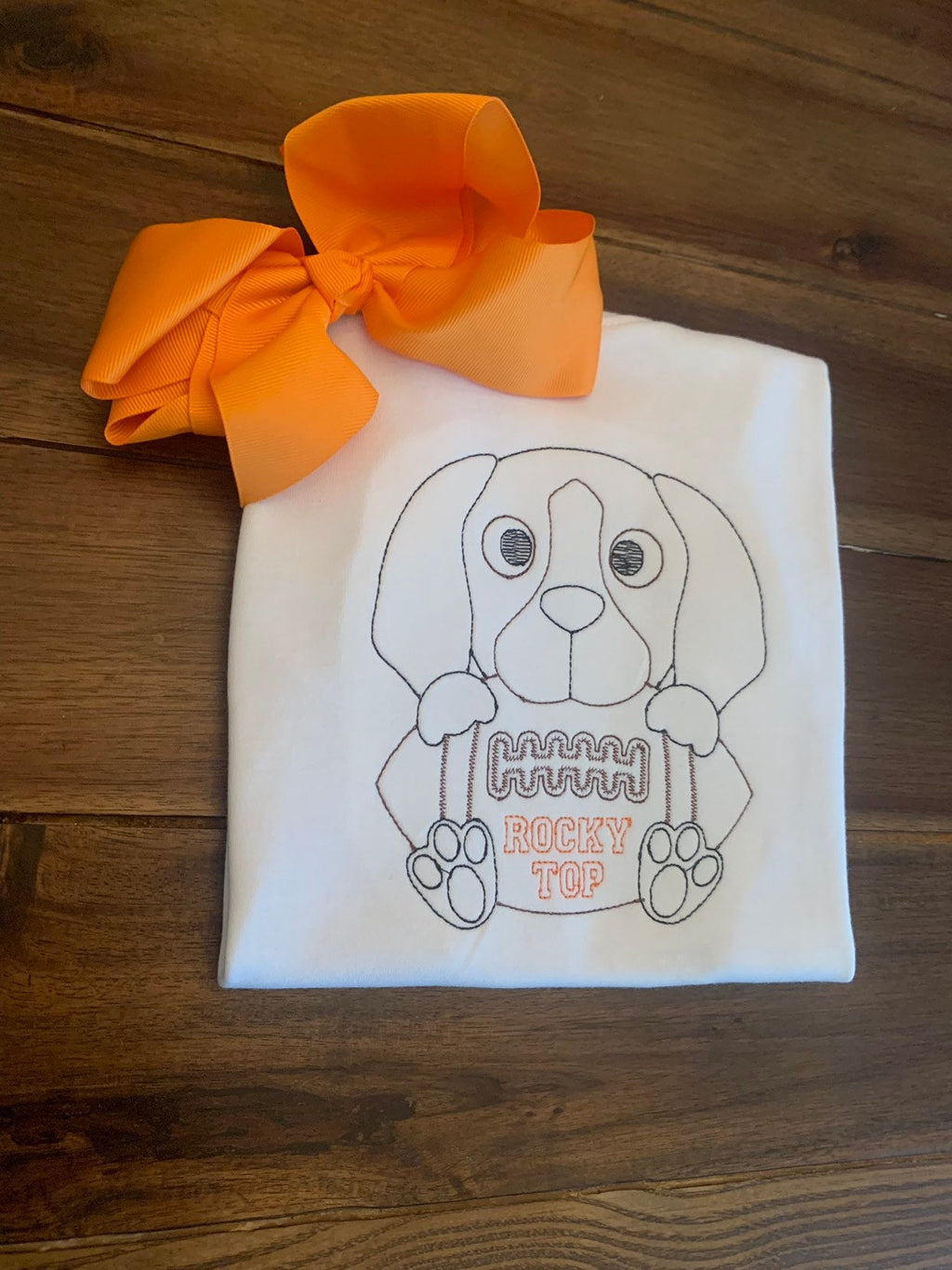 Rocky Top Hound Dog Shirt | Vintage Stitch University of Tennessee Shirt | Custom College Football Shirt