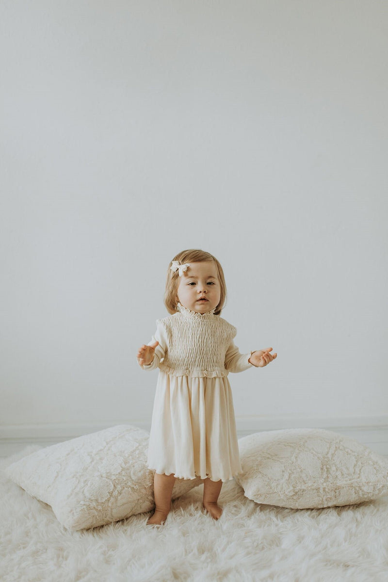 Baby Girl Organic Smoked Dress | Lovedbaby