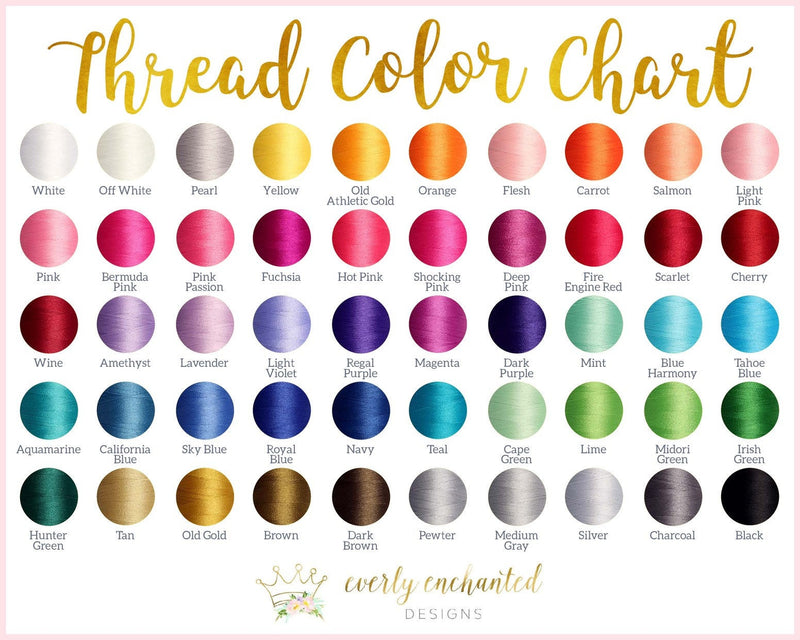 Thread Color Chart - Everly Enchanted - Do Not Purchase