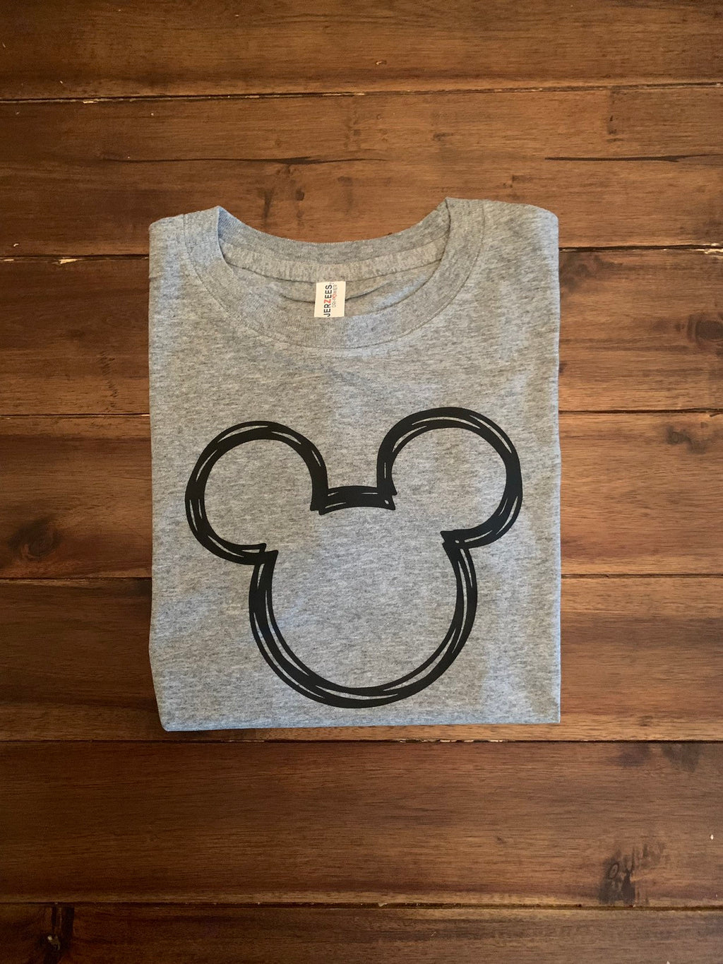 Disney Mickey Scribble Line Art Shirt  | Boy Mickey Scribble Head Disney Top | Personalized Mickey Disney Vacation Shirt