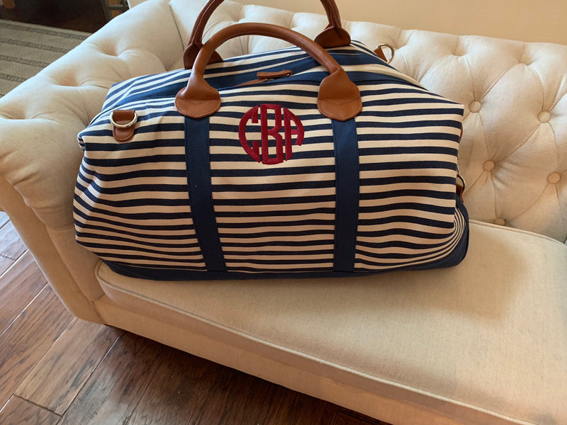 Monogrammed Weekender Bag | Monogrammed Overnight Bag | Personalized Gift | Monogrammed Carry On Luggage