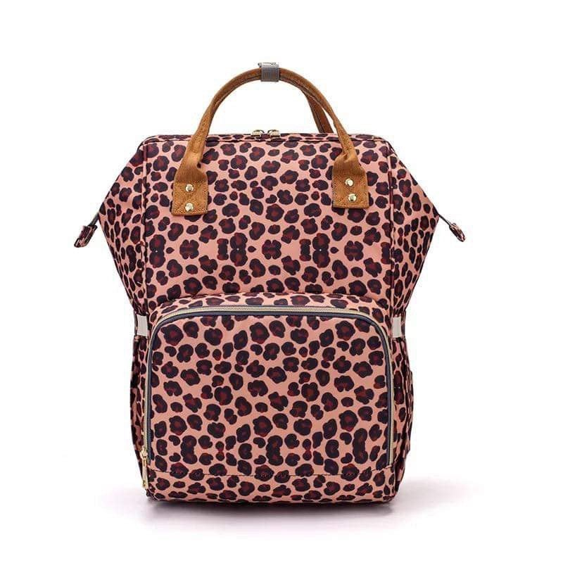 Monogrammed Leopard Diaper Bag Backpack